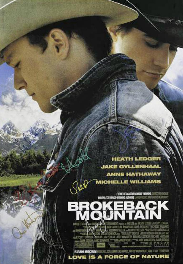 Brokeback mountain Ledger poster