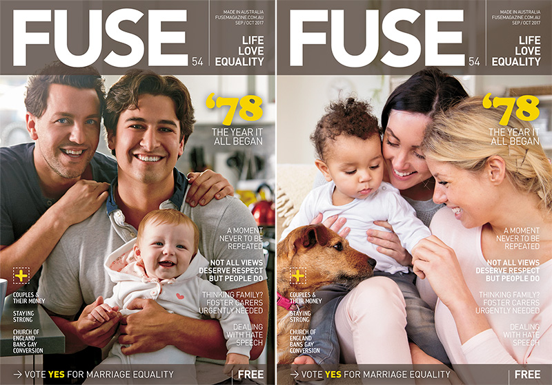 FUSE54 Magazine GLBTI gay Covers
